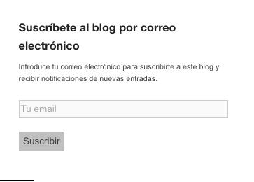 Suscríbete al blog por correo electrónico